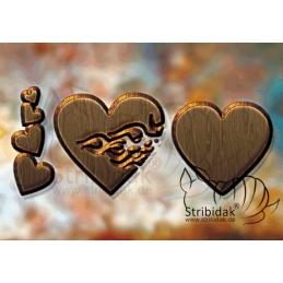 Hearts - 100 x 70 cm
