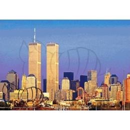 Twin Towers - 100 x 70 cm
